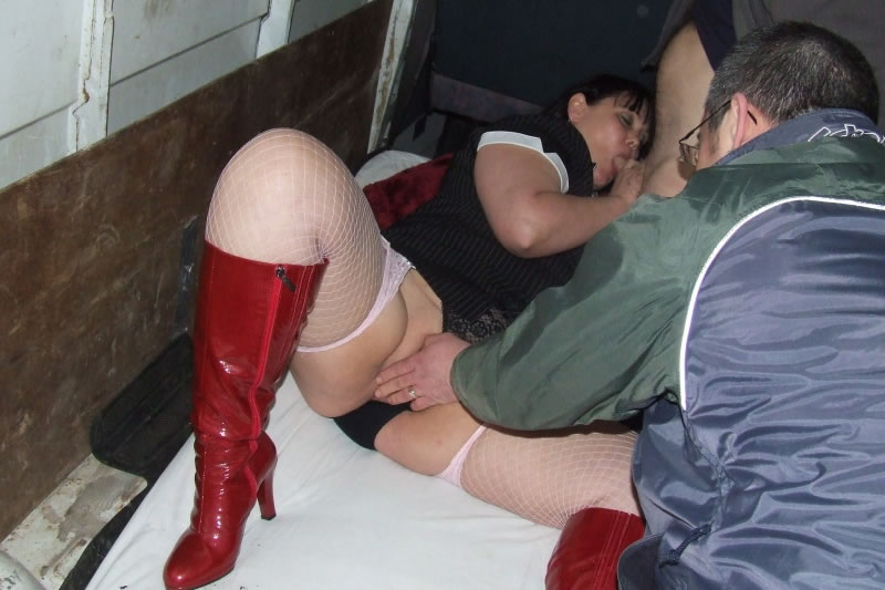 Fat wife fingered then fucked in the back of a van at a dogging meet